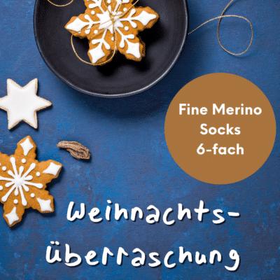 Weihnachtsüberraschung Fine Merino Socks 6-fach handgefärbt