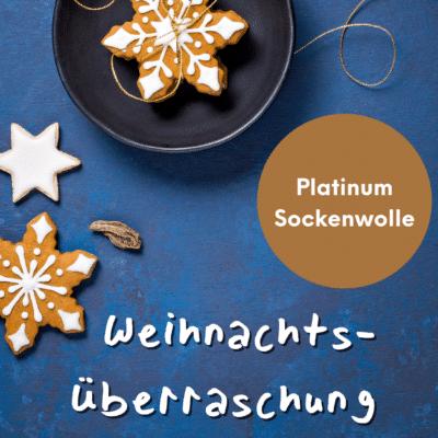Weihnachtsüberraschung Platinum Sockenwolle handgefärbt